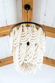wood bead chandelier house project master diy wood bead chandelier