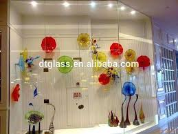 decorative glass plate wall art new hand blown plates for decoration and bowls