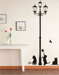 Wall Art Design Ideas Cat Removable Wall Adhesive Art Stickers Removable Wall Adhesive
