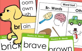 Phonics worksheets for kids including short vowel sounds and long vowel sounds for preschool and kindergarden. Consonant Blend Br Worksheets