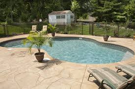 stamped concrete patio and driveway