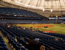 Rays Seating Chart With Rows Tropicana Field Section 130 Seat Views Seatgeek