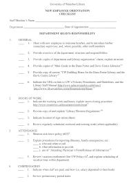 Staff Orientation Checklist Orientation Checklist Staff Manual Library University Of Waterloo
