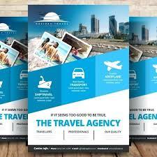 Travel Agency Flyers Sample Images Flyer Design Free Modern
