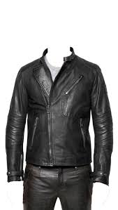 home men leather jackets men cafe racer style leather jacket