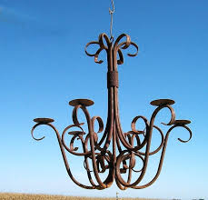 wrought iron chandelier rustic candle chandeliers australian