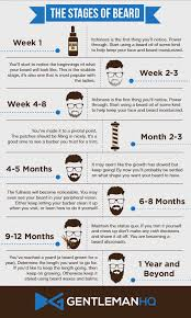 Stages Of Beard Growth Infographic From Gentlemanhq Notice