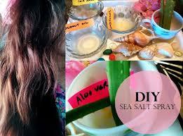 diy sea salt spray for beach waves hair