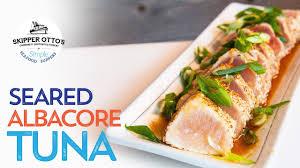Seared Albacore Tuna Recipe - YouTube