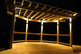 custom landscape lighting ideas. Custom Landscape Lighting Ideas. Exellent Ideas Deck Pergola Designed By Willow Gates Landscaping And