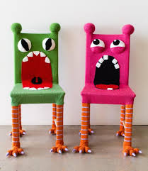 Colorful kids furniture Hand Painted Image Hgtvcom Whimsical Monster Chair Colorful Kids Furniture Yarn Bombed Etsy