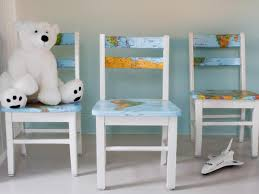 Kids Chairs For Bedrooms Upcycle A Plain Kids Chair With A Decoupaged Map Hgtv