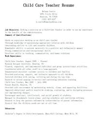 Teacher Skills For Resume Gorgeous Resume Template For Daycare Teachers Teacher Assistant Volunteer Top