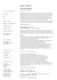 Entry Level Job Resume Examples 45 Best Entry Level Java Developer Resume Example