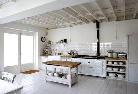 White Kitchens With Wood Floors Kitchen Curvy White Wooden Kitchen Cabinet On Ceramics Flooring