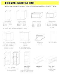 Wall Cabinet Depth Standard Kitchen Sizes Chart Drawer Size