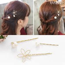 <b>M MISM</b> 3pcs/lot Fashion flower Gold plated Hair Accessories ...