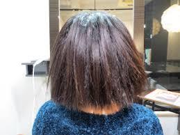 くせ毛のカット縮毛矯正をやめる 女性ショート 札幌円山の美容