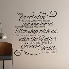 on christian wall art decals with 1 john 1 3 scripture wall art divine walls