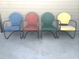 new 1950s outdoor furniture and vintage shell scallop back metal porch lawn patio chairs 4 total 1950s outdoor furniture