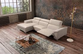 sku 403086 stylish all real leather sectional