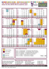 Term Time Dates | The Taunton Academy