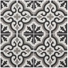stainmaster charlotte 1 piece 9 in x 9 in groutable black and white l and stick vinyl tile