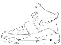 Nike Shoes Coloring Pages Awesome Air Jordan Drawing At Getdrawings