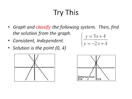 try this graph and classify the following system then find the solution from the