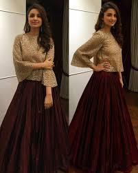 Manish Malhotra Designer Long Skirts Parineeti Chopra In Manisha Malhotra For Bachchans Diwali