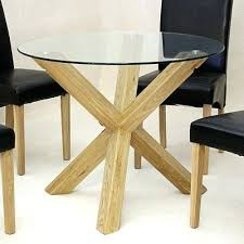 glass and oak round dining table satay solid oak and glass round dining table solid oak