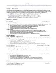 Secretary Objective For Resume Examples Cover Letter Sample