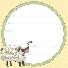 Baby Shower Invitations Templates Free Free Sheep Printables Free Printable Baby Shower Invitation 24