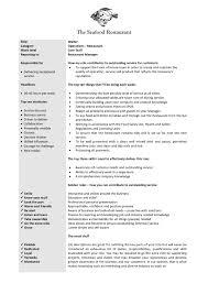 Bartender Responsibilities For Resume Resume For Study