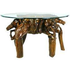 round glass coffee table wood base tables antique for with top dining dark wooden bas