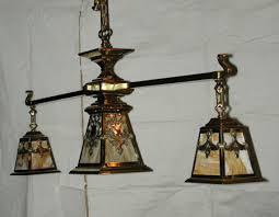 antique arts crafts mission billiard table light