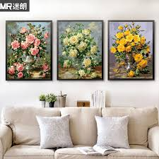 get ations lang fans diy digital oil painting flowers thick frame digital coloring painted decorative painting the living