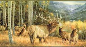 cool hunting backgrounds. Elk Gathering Wall Paper Border Cool Hunting Backgrounds
