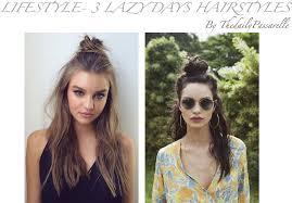 Download Hd Lifestyle 3 Lazy Days Hairstyles Peinados Para Dias