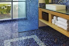 Bathroom Floor Tile Design Patterns Fascinating The Pros And Cons Of Mosaic Glass Tile Flooring