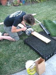 the adventures of dog potty patch fake grass diy porch with drain