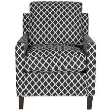 buckler black white espresso polyester arm chair