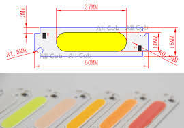 [<b>ALLCOB</b>] manufacturer <b>60mm</b> 15mm LED <b>COB</b> Strip Light Source ...