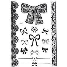 359 Blacklace Henna Indická Tělo Dočasné Tetování Nálepka Sexy Pro ženy Dospívající Dívky 5 Vzory V 1 List J020