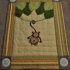 Katie's Quilts and Crafts: Monkey Baby Quilt an owl instead of ... & Custom Hanging Around Jungle Monkey Baby/Infant/Child Quilt/Wall Hanging Adamdwight.com