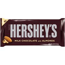 hershey almond candy bars.  Almond 034000171156 Milk Chocolate  For Hershey Almond Candy Bars 6