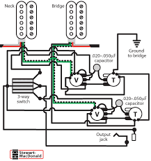 golden age humbucker wiring diagrams stewmac com you can wire both of the volume controls of a les paul or any other dual volume control instrument so that you can blend the volume of the pickups