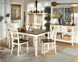 white table with wood top square dark wood top and white legs of dining table cream