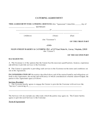 Catering Agreement 2019 Catering Contract Template Fillable Printable Pdf