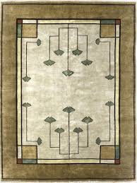 mission style area rugs the gingko motif in arts and crafts arts and crafts style rugs